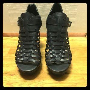 Platform Black Sandals